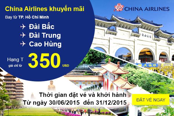 Du lịch hè đến Đài Loan với khuyến mãi 350 USD từ China Airlines