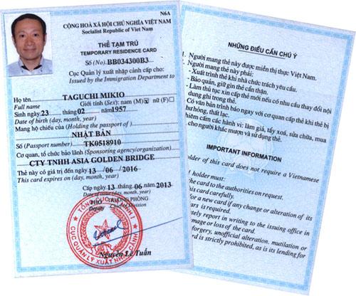 Điều Kiện Để Được Làm Thẻ Tạm Trú Tại Việt Nam